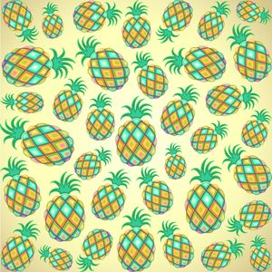 Pineapple Pastel Colors Pattern
