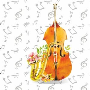 Jazz With Music Notes