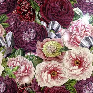 Pink Vintage Roses Peonies Watercolor Spring