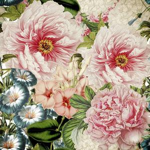Pink Vintage Roses Peonies Watercolor Spring 2