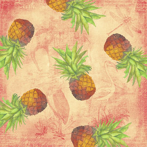 Tropical Pinepple And Animal Pattern