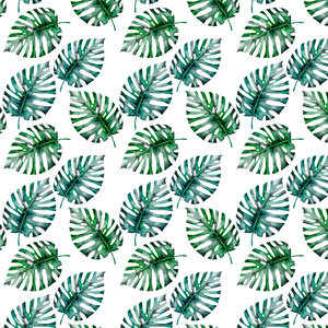 Tropical Monstera Flower Jungle Pattern