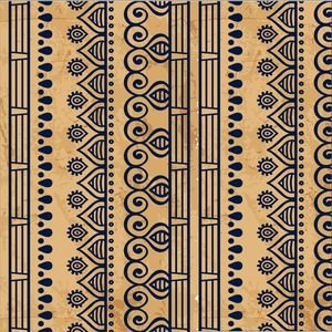 Ethnic Design On Brown