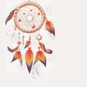 Orange Dream Catcher