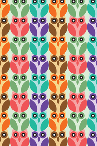 Owl Lovers Illustration Pattern