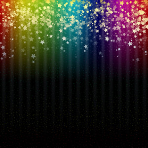 Colorful Space Rainbow Stars