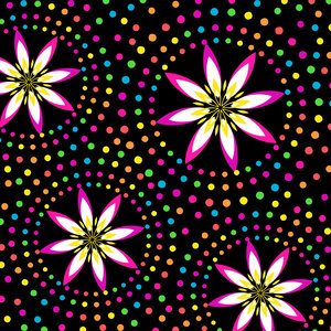 Floral Colorful Circles