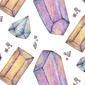 Watercolor Gems Pattern