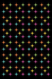 Multicolor Geometric Diamond On Black
