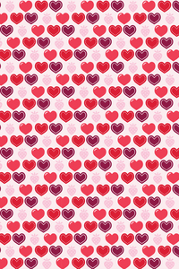 Heart Strawberry Pattern