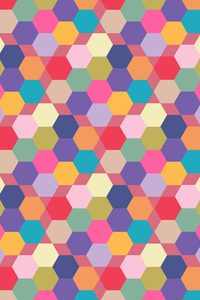 Multicolor Hexagonal Tiles