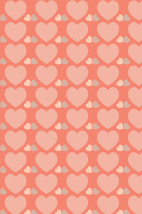 Light Pink Hearts Pattern
