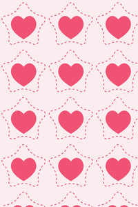 Romantic Pink Heart In Star