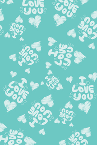 I Love You On Soft Green
