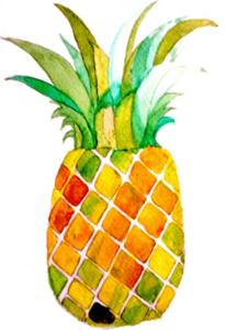 Pineapple Watercolor Art