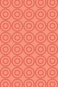 Geometric Orange Circle Repeating