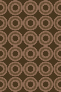 Brown Geometric Circle Repeating Pattern