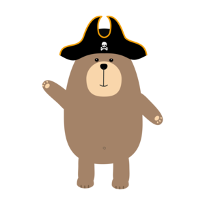 Grizzly Pirate Bear