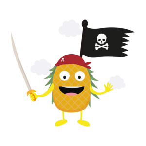 Pineapple Pirate With Flag