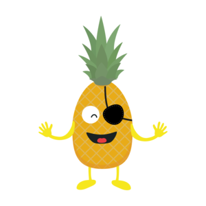 Pineapple Pirate With Eye Patch