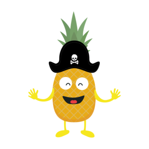 Pineapple Pirate With Hat