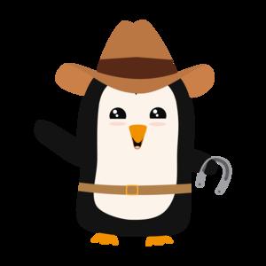 Cowboy Penguin Wild West