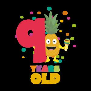Nine Years 9th Birthday Party Pineapple