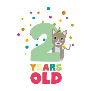 Two Years Second Birthday Party Cat