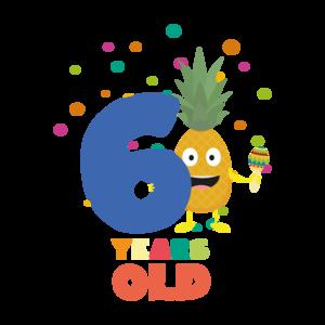 Six Years Sixth Birthday Party Pineapple