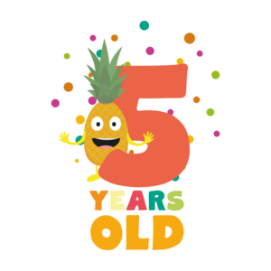 Five Years Fifth Birthday Party Pineapple
