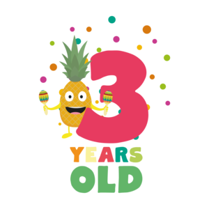 Three Years Third Birthday Party Pineapple