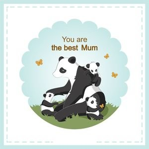 Lovely Panda Mom