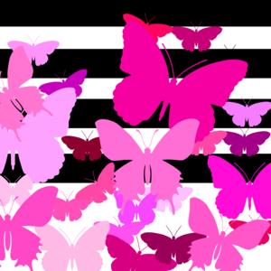 Black And Pink Design Butterflies
