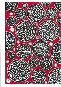 Black Mandalas On Red