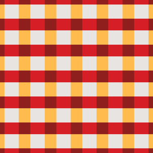 Red And Yellow Small Square Tiles Pattern