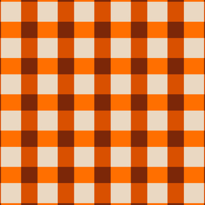 Orange Small Square Tiles Pattern