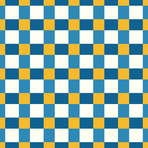 Yellow With Blue Small Square Tiles Pattern
