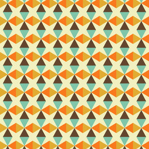 Vintage Triangle And Rhombus Pattern
