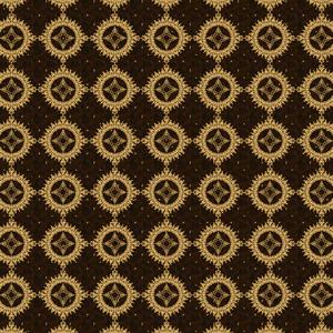 Golden Brown Vector Floral Pattern