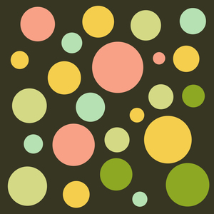 Abstract Colorful Retro Circles