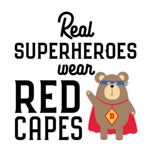 Superhero Red Cape Grizzly