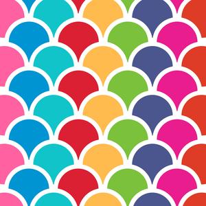 Multicolor Retro Seamless Circles