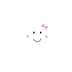 Happy Cloud With Pink Ribbbon