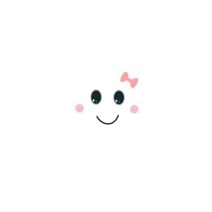 Happy Cloud With Ribbon On Blue