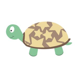 Cute Turtle With Stars
