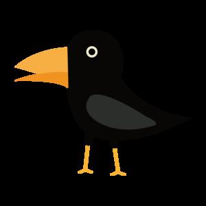 Black Cute Raven