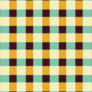 Mustard Green Square Tiles Pattern