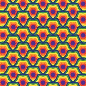 Geometric Star Rainbow Pattern