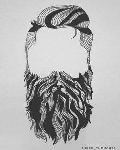 Beard Man Doodle