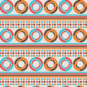 African Geometric Retro Pattern